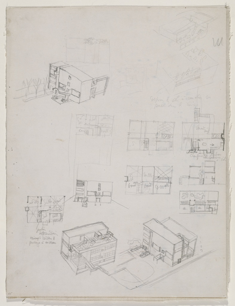 Le Corbusier process drawing
