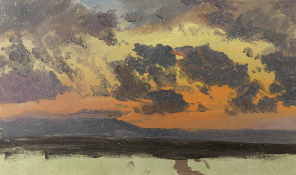 Sky at sunset, Jamaica, West Indies, Frederic Edwin Church
